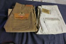 2 Vintage Levi's Men's 32 x 36 Cream cream  & Brown 32 x 34 Brown