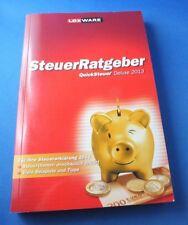 Lexware QuickSteuer Deluxe 2017  Handbuch Steuerjahr 2013 Steuererklärung NEU
