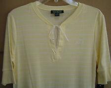 NWT $54 RALPH LAUREN Sleep Gown Shirt Nightgown Womens XS Yellow FREE SHIPPING