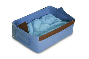 Felt Cat Bed Dog Pet Bed with Pillow - Small