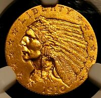 PF66 NGC 1910-p $2.5 GOLD Indian Quarter Eagle PROOF 66 Exceptional Coin