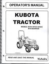 Kubota B7410, B7510, B7610 Tractor Operator Manual 6C190-63113
