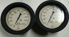 """(Lot of 2)7.5"""" in diameter MARSH INST.CO. STEAM PRESSURE GUAGES."""