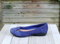 Clarks Collection Loafers Flats Womens Slip On Blue Suede Leather US 6M