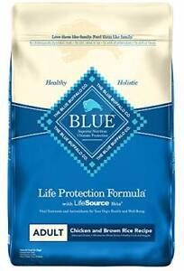 Blue Buffalo Life Protection Formula Natural Adult Dry Dog Food Chicken and B...