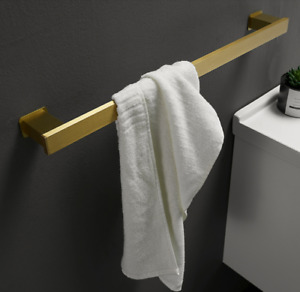 Brushed Gold Single Towel Bar 40cm Towel Rail Bathroom Towel Holder Towel Rack
