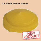 23 Inch Drum Cover Polyethylene 55 gal Drums Dome Close Head Snap Lid Yellow NEW