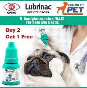 Lubrinac PETS Eye Drops Cure Cataract Carnosine NAC Glaucoma Bright C Clarity