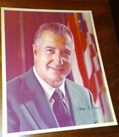 Vice President SPIRO T. AGNEW Autograph ~ Signed 8 x 10 Color Photograph