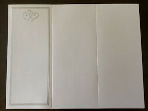 Silver Heart Wedding Program Invitation Blank 47 Count