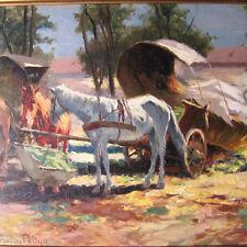 Pállya Carolus Pallya 1875 - 1930 Budapest PFERDE UNGARN IMPRESSIONISMUS Horse