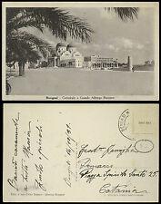 cartolina militare BENGASI cattedrale e grande albergo berenice