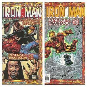 °THE INVINCIBLE IRON MAN #9 &10 THE REVENGE OF THE MANDARIN 1 bis 2 von 2° 1998