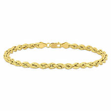 Inch Rope Chain Bracelet 14k Yellow Gold Men's 9