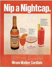 Vintage 1969 Magazine Ad For Hiram Walker Apricot Flavored Brandy For Cocktails