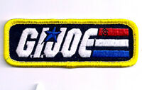 "GI Joe  Classic Toy Rectangular Logo 3.5"" Embroidered Patch- FREE S&H (GIPA-06)"