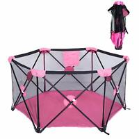 Portable Baby Playpen Playard Activity Center Toddler Kids Safety Out/Indoor