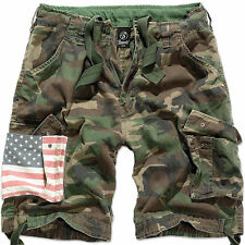Camouflage Cargo, Combat Loose Fit Shorts for Men