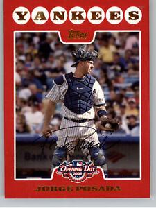 2008 Topps Opening Day  #130 Jorge Posada - New York Yankees