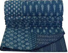 digo Set Indien Coton édredon en Patchwork Indigo Couvre Lit Couverture Double