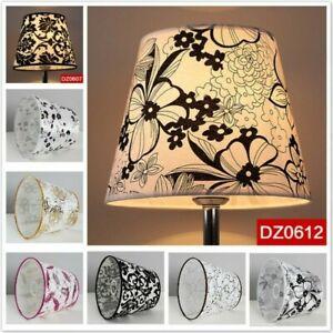Table Lampshades PVC Textured Fabric Light Bulb Cover Lamp Shades E27 Bulb Retro