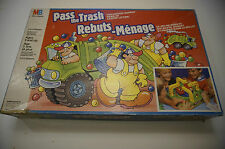 vintage Pass the Trash game Milton Bradley C4884 VG tested working
