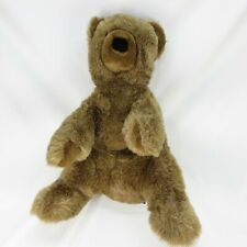 """GUND  Brown Bear Collector's Classic Soft Plush Sites 21"""" Tall. 26"""" Standing"""