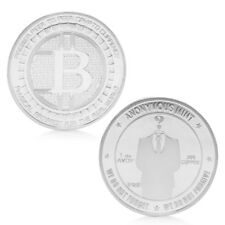Silver Plated Anonymous Mint Bitcoin Collection Commemorative Coin Souvenir Gift