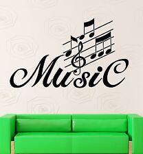 Wall Stickers Vinyl Decal Sheet Music Nightclub Party Decor Living Room (ig1329)