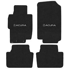 FOR ACURA TSX 2004-2008 Front - Rear Floor Mats EBONY ACURA W/ A LOGO 620186