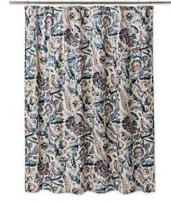 "Threshold Xaviery Navy Fabric Shower Curtain 72""X72"" Birds Floral"