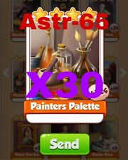 Coin Master Cards 30x Painters Palette Fast Delivery