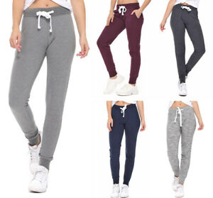 Reflex Women's French Terry Jogger Sweatpants Workout Gym Lounge Cotton Knit