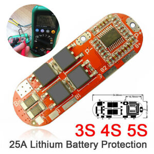 25A 3S 4S 5S Li-ion Lithium Battery BMS PCB Protection Balance Board Platte