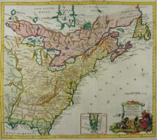 USA AMERICA EAST COAST ENGRAVED MAP of the United States KITCHIN BALDWYN 1794