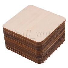 20 x Round Corner Square Wood Pieces 100x100mm for Wood Model Building