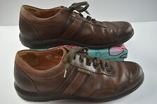 Men's Mephisto 0182 Size 9.5 Air-Jet Brown Leather Laced Casual Oxford Shoe D8