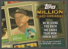 2010 TOPPS MILLION CARD GIVEAWAY #TMC30 MICKEY MANTLE