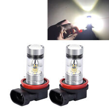 2*Auto H11/H8 100W 6000K Weiß 1800LM 360° Nebelscheinwerfer LED Birnen 2323 SMD