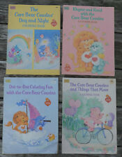 Lot of 4 Different VINTAGE CARE BEAR COUSIN Happy House COLORING BOOK 1985 Used