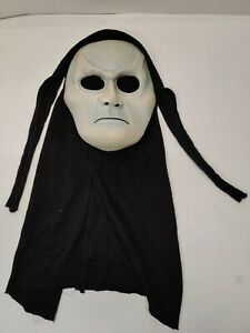 VTG Scary Ghoul Man Mask Rare Easter Unlimited Ghost Face Hooded Glow In Dark
