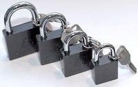 Padlock Keys alike Gate Shed Garage Bike Lock Heavy Duty Shackle Same key locker