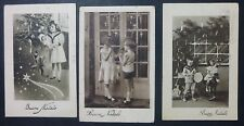 Lot 3 Postcard-Merry Christmas-Kids and giocattol 1 -'30 years