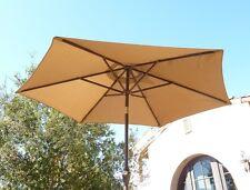 7.5 ft Aluminum market umbrella, Crank and Tilt  - Taupe