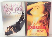Lot of 2 Vintage PAULA ABDUL Cassette Tapes - Blowing Kisses and Rush Rush