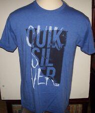 NEW Quiksilver  tee short sleeve t shirt men sz medium or large royal blue