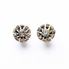 New Brand Design Flower Pave Crystal Stud Earrings For Women Gift Bijoux Jewelry