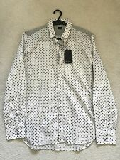 Paul Smith Manga Larga Círculo Imágenes Camisa Informal-M - P2P 50.8cm