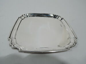 George V Tray - Antique Georgian Square - English Sterling Silver - 1912