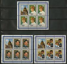Niue  1981   Scott #   340-342     Mint Never Hinged Sheet Set